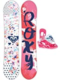 Kinder Freestyle Snowboard Set Roxy Poppy 80 Banana Speed Strap Set Gir