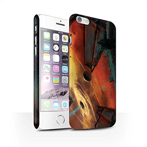 Offiziell Chris Cold Hülle / Matte Snap-On Case für Apple iPhone 6 / Exoplanet Muster / Galaktische Welt Kollektion Schwarzes Loch