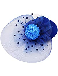 4ef15318f3f7 Sanjog Small Retro Hat Hair Clip for for Kids Girls for Wedding Party  Birthdays
