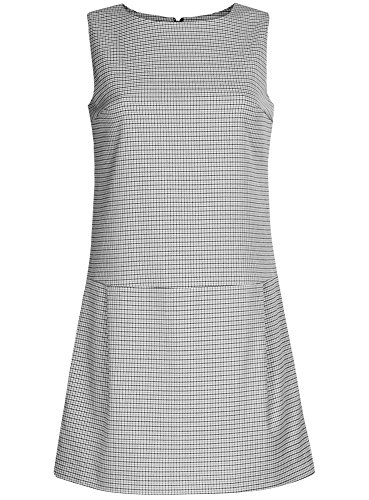 oodji Ultra Damen Basic Kleid mit Niedriger Taiile Grau (1229C)
