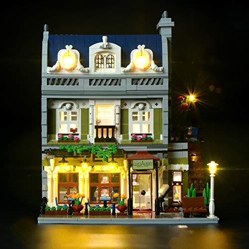 Restaurant-beleuchtung (Briksmax Parisian Restaurant Led Beleuchtungsset - Kompatibel Mit Lego 10243 Bausteinen Modell - Ohne Lego Set)