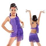 SymbolLife Ragazze Vestito da ballo latino per bambini Paillettes lustrino  Frangia spettacolo sul palco Sala da 7ad759aba13