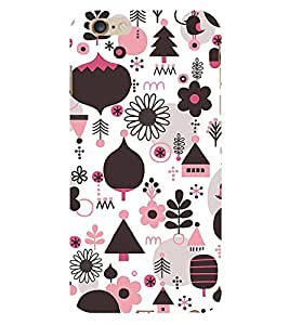 ifasho Designer Phone Back Case Cover Apple iPhone 6s Plus :: Apple iPhone 6s+ ( Pink Black Bow Colorful Pattern Design )