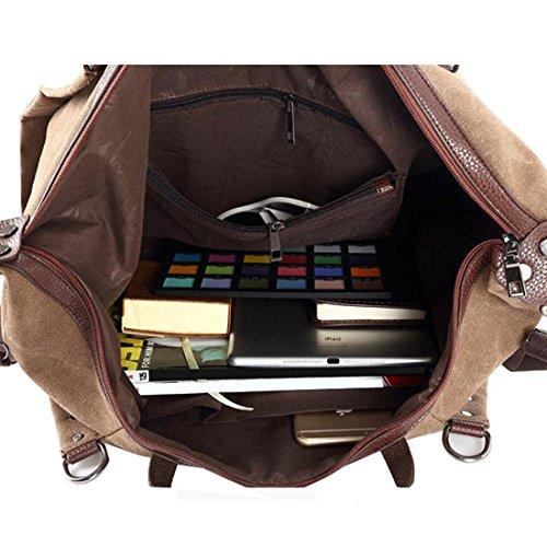 KAXIDY Borsa Fiori Donna Borsa Spalla Borsa Tracolla Messenger Borsone da Viaggio Borse Business (Cachi) Caffè