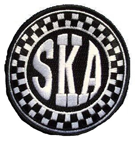Ska Checkerboard Circle Embroidered Patch (Black/White)