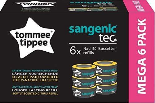 Tommee Tippee Sangenic Ricariche Sangenic Tec Confezione da Bianco Taglia unica