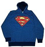 Changes Dc Comics Superman Repeat Logos Zip Front Hooded