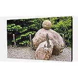 wandmotiv24 Jardín japonés de Piedra Zen Wandgarderobe M1036 Armario Formato apaisado - 69x40 (Ancho x