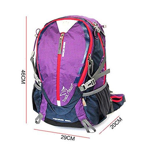 SEABECCA Zaino Outdoor Trekking Alpinismo Bag Luce Borsa A Tracolla Equitazione Impermeabile , green Purple