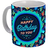 Happy Birthday - Coffee Mug Birthday Gift Box - 11 Oz - Birthday Gifts For Dad Sister, Him/Her For Birthday, Christmas, Graduation, Gift - Mom, Dad Best Mothers Day Gifts Birthday - Wedding Anniversary Couples