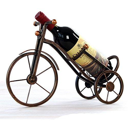 Support pour bouteille de vin, vintage style parisien moderne fer décoratifs Organiseur de bouteilles de vin Hy-010