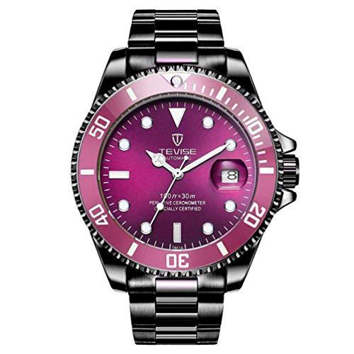 TEVISE T801 Men Automatic Mechanical Watch Moda Impermeabile Luminoso WatchBlack Band