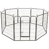TecTake Welpenlaufstall Tierlaufstall Freigehege Hunde Laufstall Höhe: 100 c
