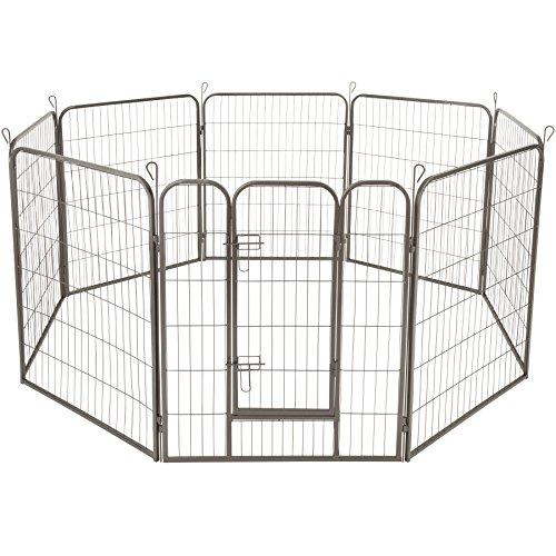 TecTake Welpenlaufstall Tierlaufstall Freigehege Hunde Laufstall - Diverse Modelle - (Höhe 100 cm | no. 402501)