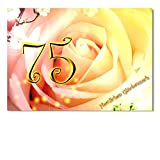 DigitalOase Glückwunschkarte 75. Geburtstag Jubiläumskarte 75. Jubiläum Geburtstagskarte Grußkarte Format DIN A4 A3 Klappkarte PanoramaUmschlag