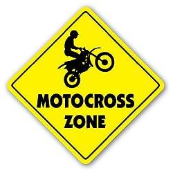 MOTOCROSS ZONE Sign dirt bike supercross cycle gear