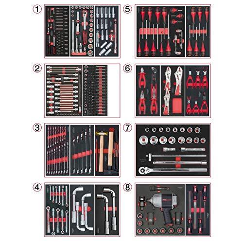 KS Tools 714.0330Composición de 354herramientas pl 8cajones para carro