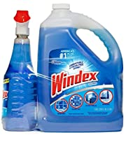 Windex Complete Glass & More Cleaner Trigger Spray 946mL/1 Qt + Refill 1 Gallon