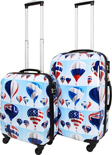 normani ABS Hartschalen Koffer mit Teleskopgriff und Zahlenschloss Farbe Sky Balloon