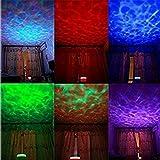 LED Romantisch Farbwechsel 8 Betriebsarten Ozeanwelle Stimmungslicht Aurora Meister Projektor Lampe Schön Nacht Lichter mit A Eingebauter Minilautsprecher Für Kinderzimmer Kinder