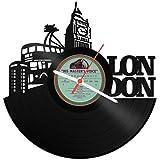 GRAVURZEILE Wanduhr aus Vinyl Schallplattenuhr London 2018 Upcycling Design Uhr Wand-Deko Vintage-Uhr Wand-Dekoration Retro-Uhr Made in Germany
