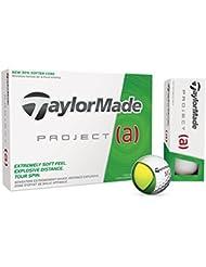 TaylorMade Project A Bolas De Golf, Unisex adulto, Blanco, Docena