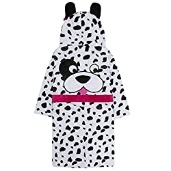 Minikidz Girls Novelty Warm Winter Dalmation Dog Dressing Gown