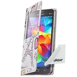 Avizar - Etui Clapet Folio Fenêtre Samsung Galaxy Grand Prime - Paris Tour Eiffel