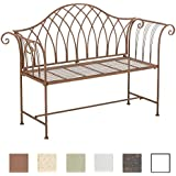 CLP antique garden bench JAMEE, iron, choose from up to 6 colours antique brown