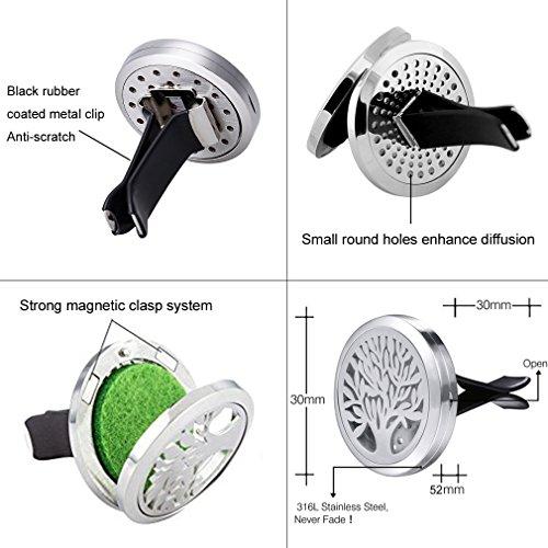 Joymiao-diffusore-di-oli-essenziali-per-auto-Vent-clip-30-mm-medaglione-aromaterapia-deodorante-per-auto-con-8-cuscinetti-in-acciaio-inossidabile-Premium
