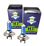2x H7 Halogen Lampen in Xenon Optik, 8500K 55W 12V, Weißes Licht, Top Qualität, 100% passgenau, aggressive Optik