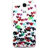 Voguecase Para LG Magna/LG G4c TPU Funda de Silicona de Gel Carcasa Tapa Case Cover (corazones de colores) + Gratis aguja de la pantalla stylus universales