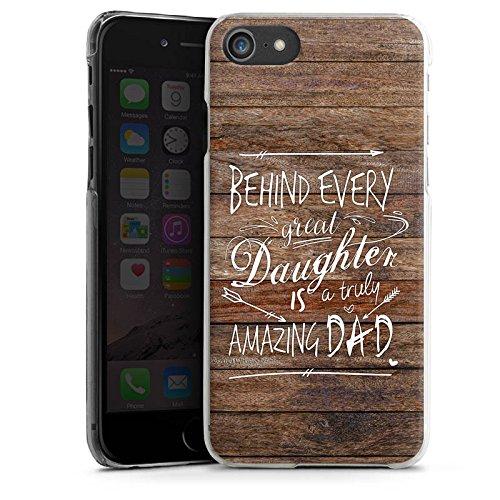 Apple iPhone X Silikon Hülle Case Schutzhülle Vatertag Spruch Dad Hard Case transparent