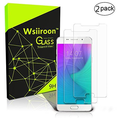 wsiiroon Schutzfolie kompatibel mit Samsung Galaxy A5 2016, [2 Stück] Panzerglasfolie mit 3D Touch Kompatibel-0.33mm, 9H Härte, 99prozent Transparente Schutzglas