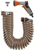 Gardena 4647-20 Tuyau d'arrosage en spirale avec pistolet arroseur et accessoires 10 m