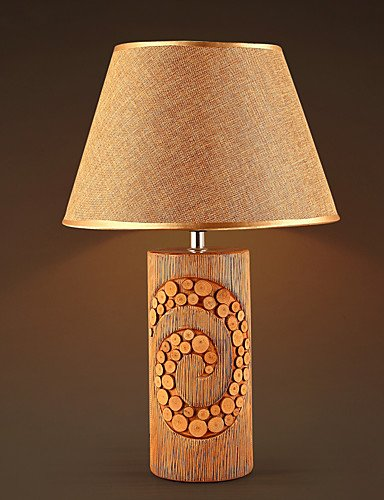 Tabelle Kandelaber (LPZSQ Moderne Hochzeits-Dekoration Tabellen-Lampe für Wohnzimmer Schlafzimmer Cafe Bar Study Room; Boutique Stoff Keramik Nachttischlampen, 220-240)