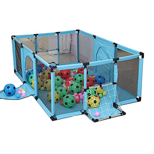 Yuhao Baby Laufstall mit Ballnetz, Sicherheit groß Kinderspielzaun Kleinkind Indoor Outdoor Spielplatz grün