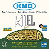 KMC Kette X-11 EL Gold 11-Fach Campa, Shimano, Sram, inkl. Missing-Link, One Size