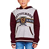 HARRY POTTER Sudadera con Capucha para niños Gryffindor Crest Hooded Grey Red - 152