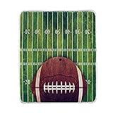 Use7 Home Decor Grunge American Football Field Decke, weich, warm, für Bett, Couch Sofa, leicht, für Reisen, Camping, 127 cm x 152,4 cm, Überwurfgröße für Kinder Jungen und Damen