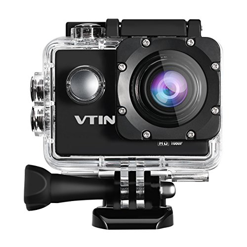 VicTsing Eypro Cámara Acción Deportiva 1080P Resistente al Agua, 1080p Vídeo y 12MP Imagen...