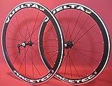 28 Zoll Fahrrad Laufradsatz Rennrad RACETEC Hohlkammerfelge schwarz Nirospeichen schwarz