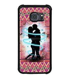 ifasho couple kissing Back Case Cover for Samsung Galaxy S6 Edge