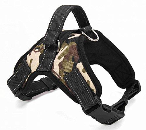 Hundegeschirr, einstellbar weich Brustgeschirre, Hunde-Geschirr für kleine und große Hunde, Haustier sicher Kontrolle Körper Padded bequem Hunde Vest, No-Pull-Hundegeschirr in 4 Größen von MOMONY