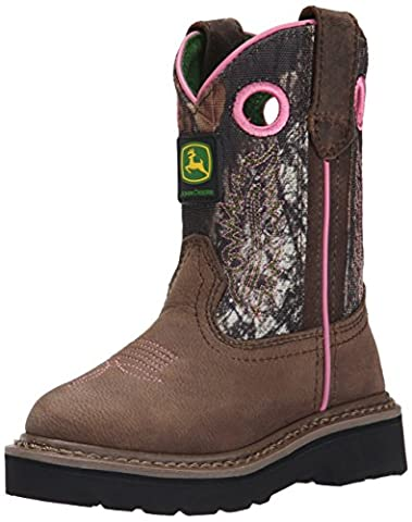 John Deere JD2198 Pull On Boot (Little Kid), Dark Brown/Mossy Oak, 2 M US Little Kid