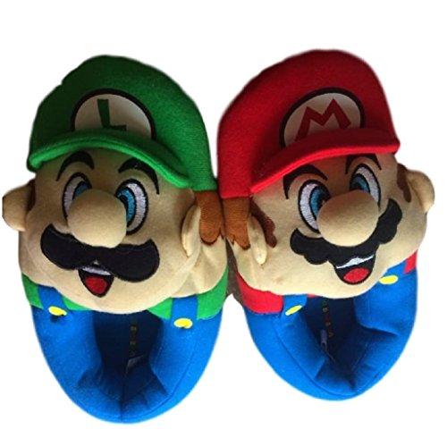 Super Mario Brothers Boys Plush Slippers (Little Kid/Big Kid)