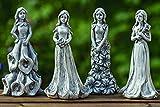 Tamia-Home 4er Set Gartendeko Gartenfigur Blumenfeen Figur Kunstharz H20cm 1004903