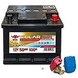 BIG Solar DC GEL 12 V / 50 Ah (100h) Antrieb Beleuchtung Versorgungsbatterie +Easy Click