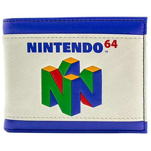 Nintendo 64 Spielkonsole Bunte Logo Weiß Portemonnaie Geldbörse