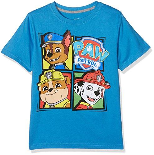 PAW PATROL Jungen Windows T-Shirt, Blau (Mid Blue), 9-10 Jahre (Hersteller Größe:XL)